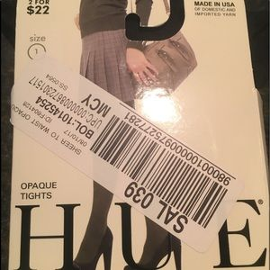 Hue Black Opaque Tights/stockings Size 1 NWTNWT for sale